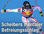 Mario Scheiber bei Abfahrt
