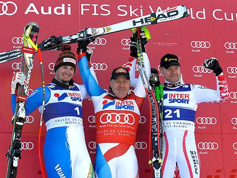 Dominik Paris, Didier Cuche und Claus Kröll