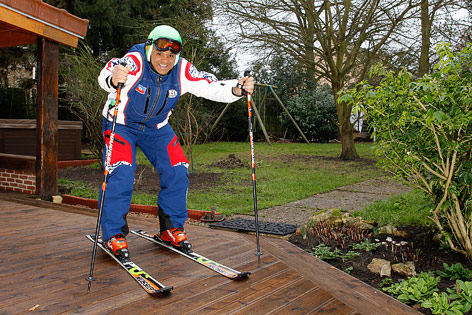 Skifahrer Jean-Pierre Roy