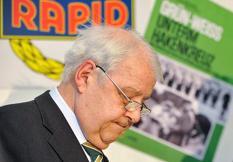 Rapid-Präsident Rudolf Edlinger
