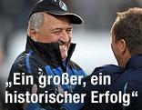 Jubel von Ried-Trainer Paul Gludovatz