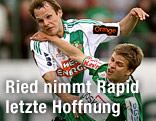 Markus Heikkinen (Rapid) und Markus Hammerer (Ried)