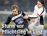 Martin Ehrenreich (Sturm) und Rene Aufhauser (LASK)