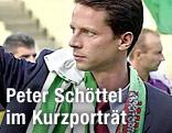 Peter Schöttel mit Rapid-Schal