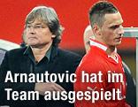 ÖFB-Teamchef Didi Constantini und Marko Arnautovic