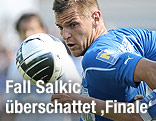 Edin Salkic (Wiener Neustadt) mit Ball