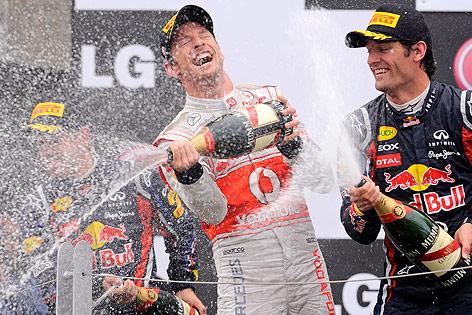 Siegesfeier von Jenson Button