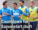 Spieler des FK Austria Wien beim Training