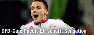 Jubel von Daniel Frahn (RB Leipzig)