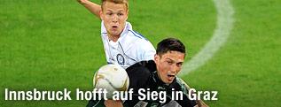 Miran Burgic (Wacker) und Dominic Puercher (Sturm)
