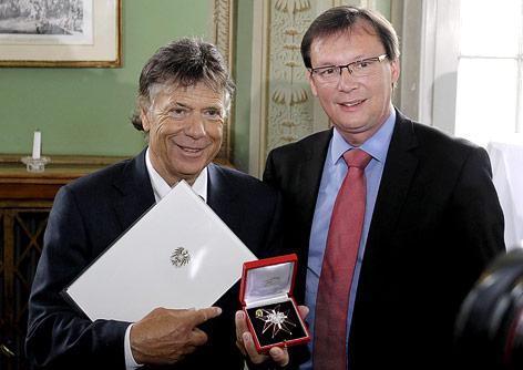ÖSV-Präsident Peter Schröcksnadel und Sport- und Verteidigungsminister Norbert Darabos