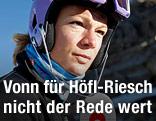 Maria Hoefl-Riesch auf dem Mölltaler Gletscher