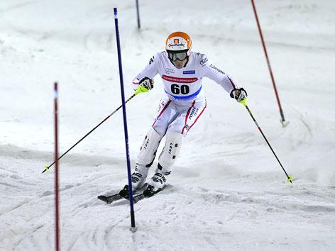 Matthias Lanzinger während dem Slalomrennen