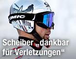 Mario Scheiber mit Skihelm und Brille