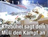 Müllberg im Zielraum von Kitzbühel