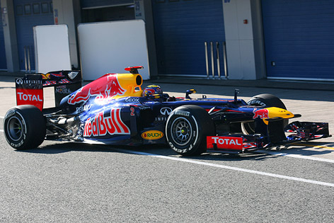 Racing Auto on Red Bull Racing Bei Testfahrten Im Februar 2012 In Jerez