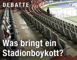 Leere Tribüne im Ernst-Happel-Stadion