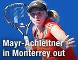 Patricia Mayr-Achleitner beim Tennis spielen