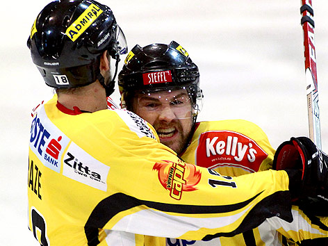 Spielszene Black Wings Linz - Vienna Capitals