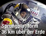 Felix Baumgartner im Druckanzug steigt in die Kapsel