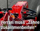 Fernando Alonso bei Testfahrten im Ferrari