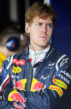 Sebastian Vettel mit skeptischen Blick