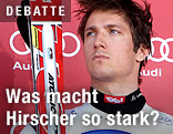Marcel Hirscher am Siegerpodest
