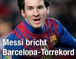 Torjubel von Lionel Messi (Barcelona)