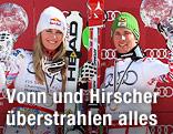 Lindsey Vonn (USA) und Marcel Hirscher