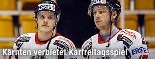 Eishockey-Nationalspieler Stefan Geier und Johannes Kirisits