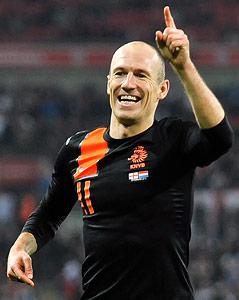 Jubel von Arjen Robben (Niederlande)