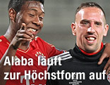 David Alaba und Franck Ribery (Bayern)