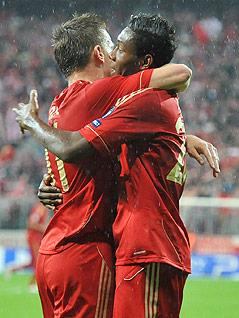Ivica Olic und David Alaba (Bayern)