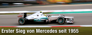 Nico Rosberg (Mercedes) am Circuit von Schanghai