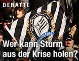 Sturm Graz Fans mit Fahne