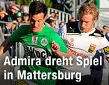 Christian Gartner (Mattersburg) und Bernhard Schachner (Admira)