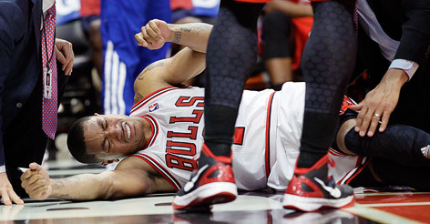 Chicago Bulls guard Derrick Rose