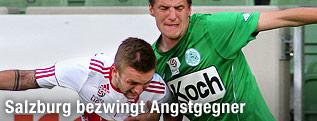 Jakob Jantscher (Salzburg) gegen Alois Höller (Mattersburg)
