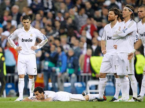Die Spieler von Real Madrid sind enttäuscht