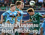 Luca Tauschmann (Hartberg), Christoph Stückler und Peter Poellhuber (beide Austria Lustenau)