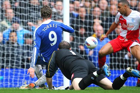 Tor von Fernando Torres (Chelsea) gegen die Queens Park Rangers