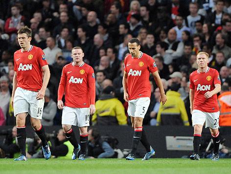 Enttäuschte Manchester-United-Spieler