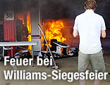 Feuer in der Williams-Box