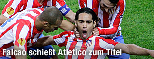 Jubel von Falcao (Atletico Madrid)