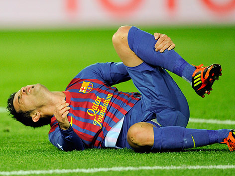 David Villa (Barcelona) verletzt
