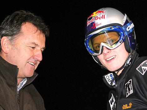Skisprung-Trainer Edi Federer und Thomas Morgenstern