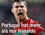 Cristiano Ronaldo jubelt im portugiesischen Nationaldress