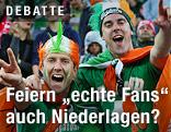 Verkleidete irische Fußballfans