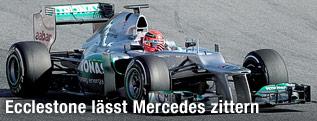 Michael Schumacher in seinem Mercedes