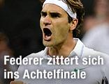 Jubel von Roger Federer
